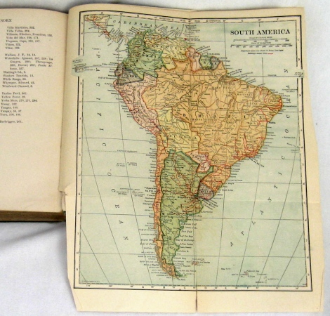 Fold-out map of South America