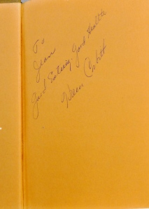 "Signed by Helen Corbitt, the  ""Texas Julia Child,"" & former Food Director of Nieman Marcus."